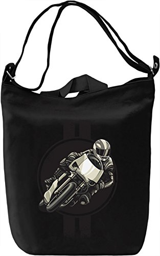 Racing biker Borsa Giornaliera Canvas Canvas Day Bag| 100% Premium Cotton Canvas| DTG Printing|
