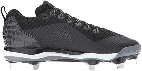 Adidas Base De Cordones De Béisbol Poweralley 5 Para Hombre, Color Negro, Plata, Color Blanco, Blanco Ftwr