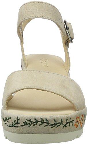 Gabor Shoes Fashion, Sandalias con Cuña para Mujer Beige (sesamomulticolor)