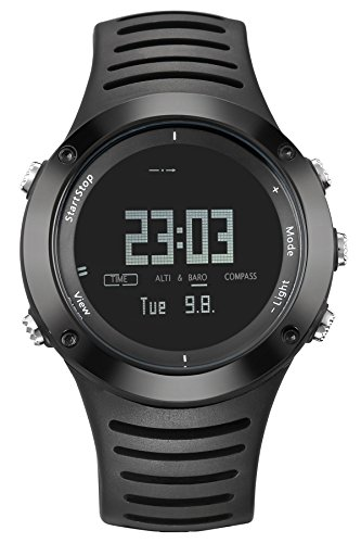 Mens Digital Watch Compass Altimeter Thermometer Barometer Chronograph Alarm 5ATM Waterproof Outdoor Sports Stopwatch Climbing Hiking Running