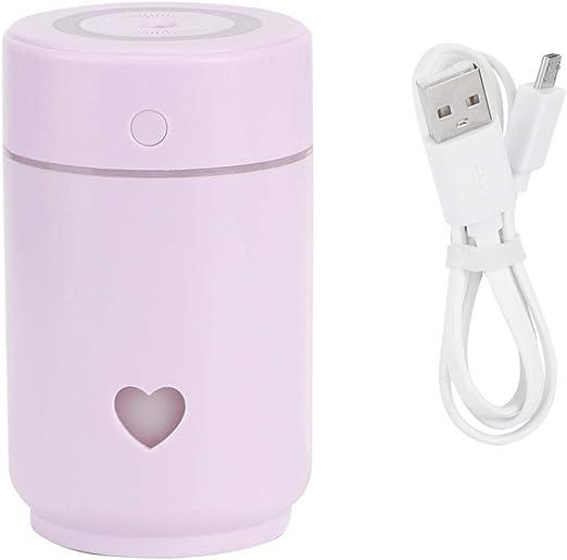 Neufday Humidificador de purificación de Aire USB portátil, 220ml Mini purificador de humidificador de Aire USB portátil para la decoración del hogar de la Oficina(Púrpura): Amazon.es: Hogar