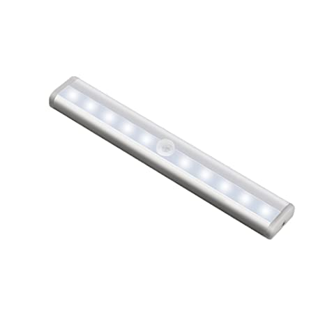 LEDMOMO LED Luz de Noche Control Remoto con Temporizador Sensor de Movimiento Batería para Armario Sótano