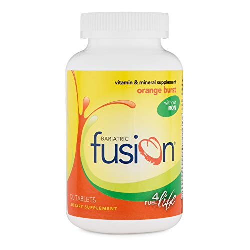 Bariatric Fusion Vitamin and Mineral Supplement Without Iron Orange Burst Flavor Tablets, 120 Tablets