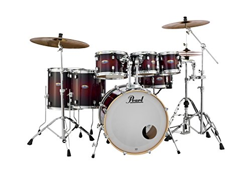 Pearl Drum Set, Gloss Deep Red Burst, inch (DMP927SPC261) ()