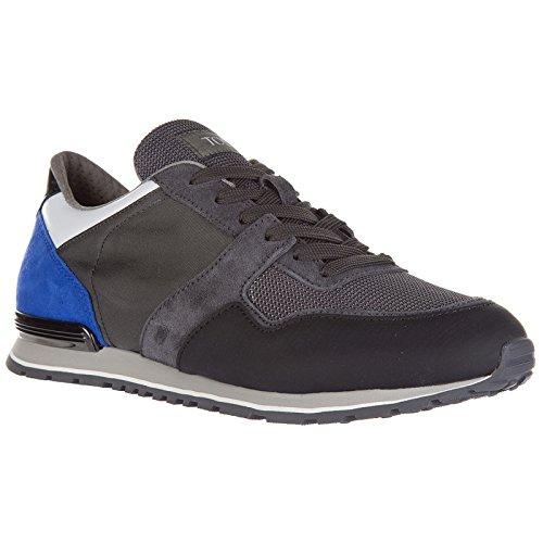 Tod's Chaussures Baskets Sneakers Homme en Cuir Spoiler Gris KDgniv