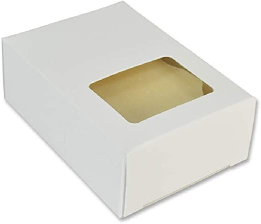 Made in USA 50 Pack Soap Making Supplies Homemade Soap Packaging Crafters Choice White Oval Window Soap Box