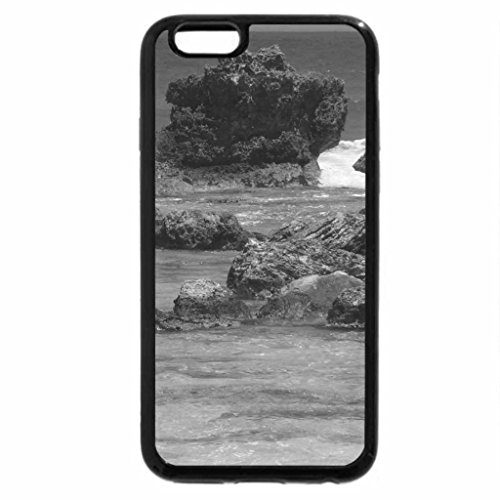 iPhone 6S Case, iPhone 6 Case (Black & White) - Beach on Isla Mujeres