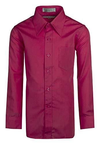Tuxgear Boys Hot Pink Dress Shirt Long Sleeve, Button Up (6)