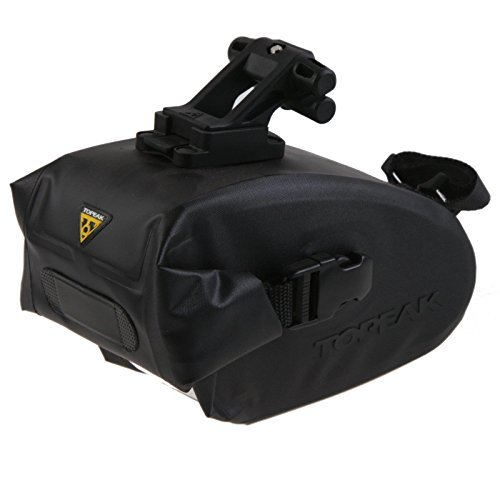 Topeak Drybag Wedge Saddle Bag Small Quick Click Holder Fixer F25 ? 15 x 9 x 9 cm, 0.6 Liter, TT9820B by Topeak