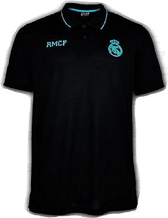 Polo Oficial REAL MADRID CF - Negro Verde - Tallaje Adulto (M ...