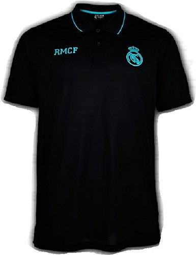 Polo Oficial REAL MADRID CF - Negro Verde - Tallaje Adulto (S ...
