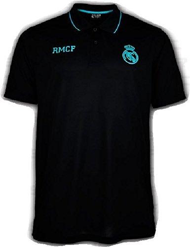 Polo Oficial REAL MADRID CF - Negro Verde - Tallaje Adulto (S ...