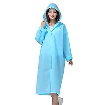 bestfur Lightweight EVA Easy Carry Poncho Wind Hooded Raincoat