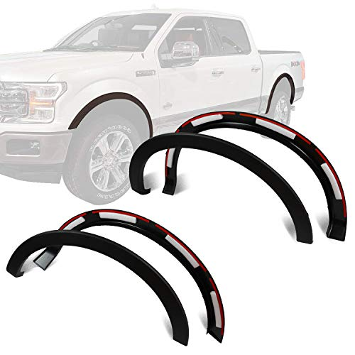 GaofeiLTF Fender Flares Kit Fits 2009-2014 Ford F-150 Styleside, Front Rear Right Left Wheel Cover Protector, Factory/OE Style 4pcs Matt Black