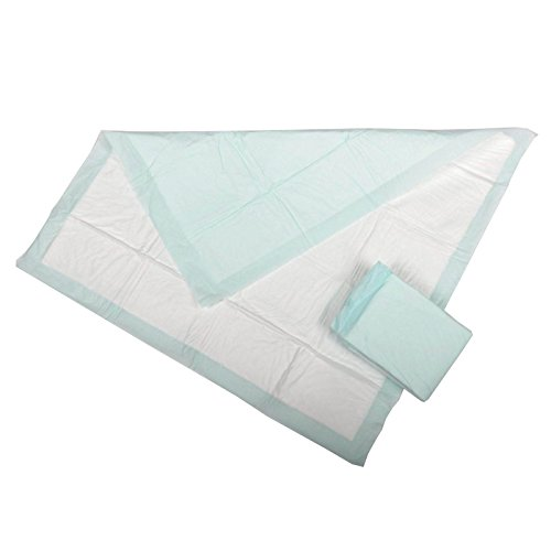 Medline Protection Plus Polymer Underpads, 50 Count (Pack of 12)