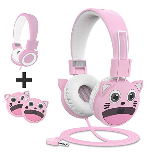 KidMoments K13 Kinderkoptelefoons met Volumebegrenzing van 85dB voor Gehoorbescherming & Notice,Gemaakt van…