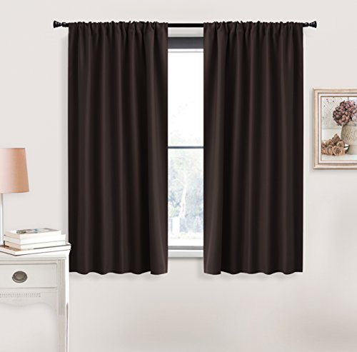 Blackout Curtains Thermal Insulated Drapes - RYB HOME ( W 42