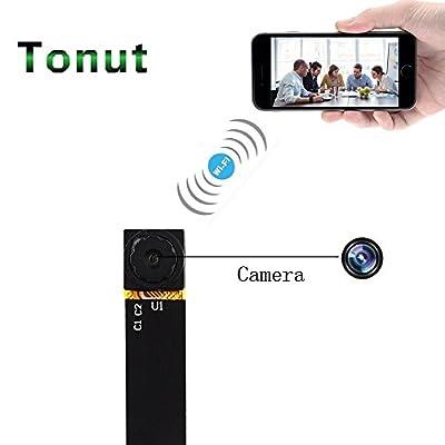 Tonut Spy Camera, Super Mini Size 720P Hidden Home Security Surveillance Cameras Nanny Cam P2P Wireless WiFi Motion Detection Loop Recording