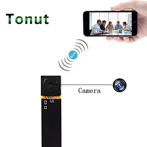 Tonut Spy Camera, Super Mini Size 720P Hidden Home Security Surveillance Cameras Nanny Cam P2P Wireless WiFi Motion Detection Loop Recording