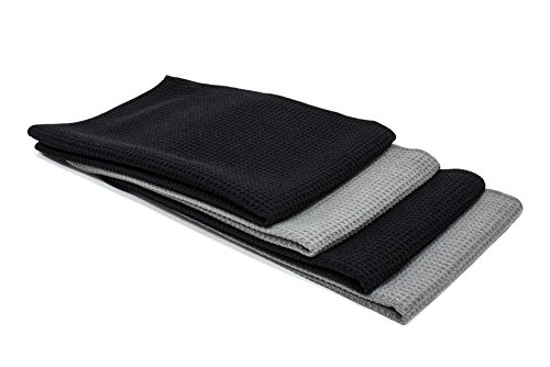 Cloth Genius Microfiber Kitchen Dish & Hand Towel Set - 4 Pack - 16