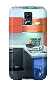 High Quality Orange And Gray Kitchen Furniture Case For Galaxy S5 / Perfect Case