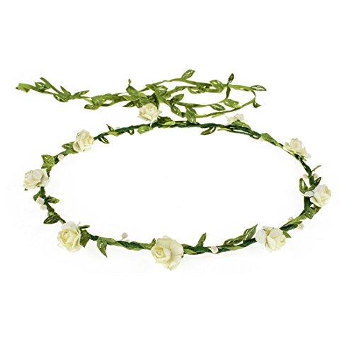 Vividsun Girls Flower Crown Wreath Headband Garland Headbands Photography Prop (3 ivory)