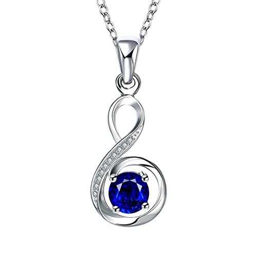 lated Women's Necklace Blue AAA Elements Crystal Figure 8