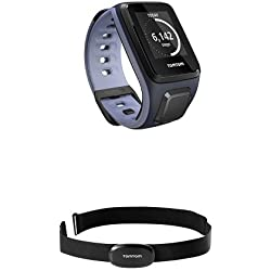 TomTom Spark Small Sky Captain/Purple Haze with Bluetooth Heart Rate Monitor Bundle