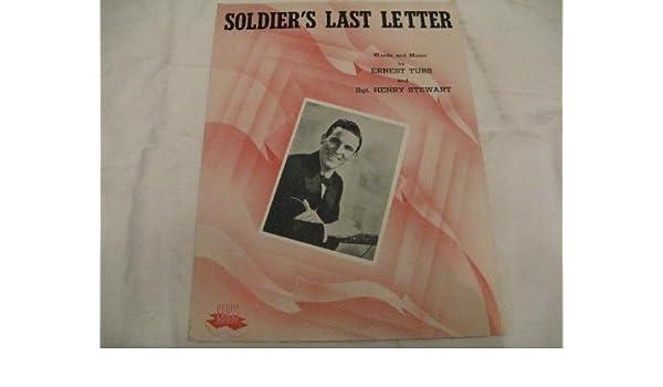 Soldiers Last Letter.Soldiers Last Letter Ernest Tubb 1944 Sheet Music Sheet