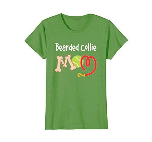 Womens Bearded Collie Mom T-shirt Mothers Day Pet Gift Large Grass