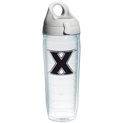 Tervis Xavier University Emblem Individual Water Bottle With Gray Lid  24 Oz  Clear