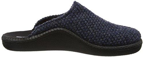 Romika Herren Mokasso 233 Pantoffeln Blau (Blau-Kombi 501 501)