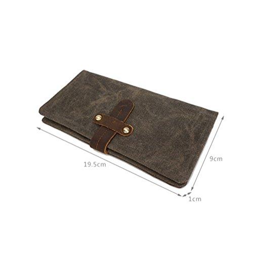 Männer und Frauen Modelle Leinwand Brieftasche retro multifunktionale wasserdichte Geldbörse Mode Kupplung ZYXCC 5 WHjpdqd