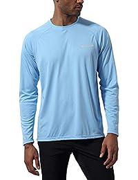 5cf44111e320 Mens UPF 50+ UV Sun Protection Shirts Long Sleeve Rashguard Swim Shirts