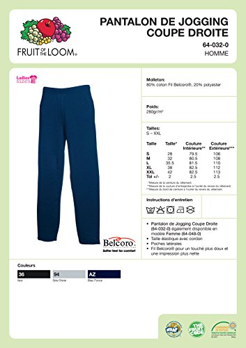 Pantalon Fruit Jog Loom Bas Leg Navy Droit Pants Open Jogging Deep De 64 The 0 Of 032 prvTnqw4p