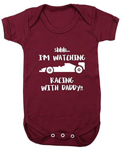 c065d9654 Hippowarehouse Shhh. I'm Watching Racing Daddy!! Baby Vest Bodysuit (Short  Sleeve) Boys Girls: Amazon.co.uk: Clothing