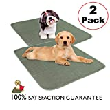"Millie Mats Washable Dog Training Pee Pads 2 Pack. Leak Proof to Protect Floors, Bed, Crate from Pee Accidents. Absorbent Indoor Potty for Puppies. Use for Incontinent, Senior or Sick Dogs. 28"" x 31"""