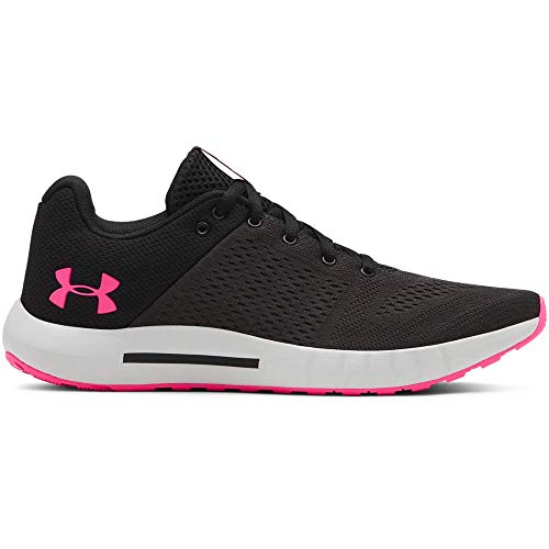 Under Armour womens Micro G Pursuit Running Shoe, Black (005)/Elemental, 10.5