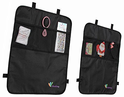 Premium Kick Mats Back Seat Protector w/ Storage - Pink Camo Realtree Diaper Bag