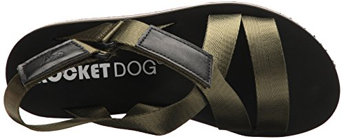 Rocket Dog Women's Jarvis strapper Fabric/Smooth PU Wedge Sandal Olive jhY4U