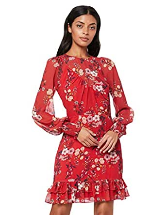 Cooper St Women's Disco Long Sleeve Fitted Mini Dress, Print, 10