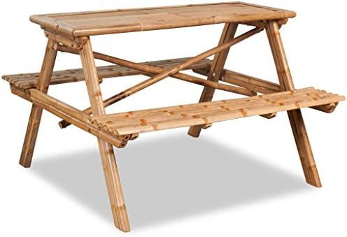Roderick Irving Picnic Mesa bambú Infantil Muebles de Jardín Lätt ...
