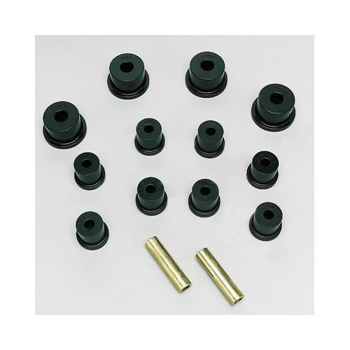 Energy Suspension 8.2103G Leaf Spring Bushing Set; Black; Rear; Incl. Frame Shackle Set; Performance Polyurethane; ENE-8.2103G