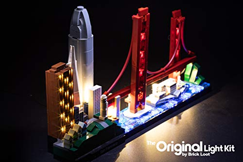 Brick Loot Deluxe LED Light KIT for Your Lego Architecture San Francisco Skyline 21043 (Lego Set Not Included)