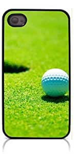 Golf Ball Pattern Hard Plastic and Aluminum Back For Iphone 5C Case Cover