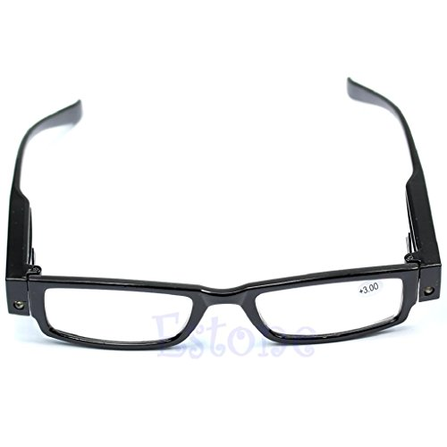 Yumian Light UP Multi Strength Eyeglass LED Reading Glasses Spectacle Diopter Magnifier - Lighted Sunglasses Led