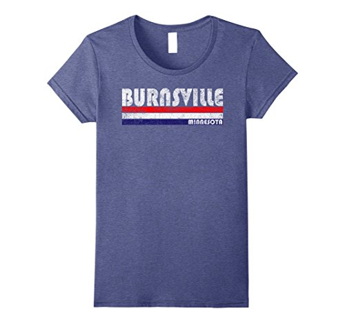 Womens Vintage Burnsville Minnesota Throwback T-Shirt Small Heather - Minnesota Burnsville