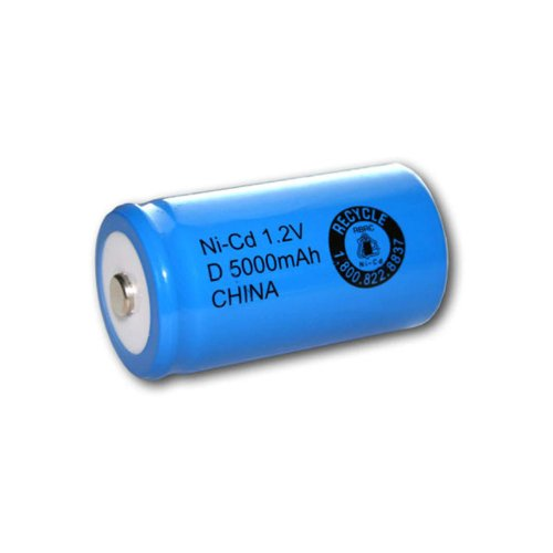 Exell 1.2V 5000mAh NiCD D Rechargeable Battery Button Top Cell Fast USA Ship