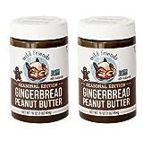 Wild Friends Foods Gingerbread Peanut Butter 16 oz (Pack of 2)