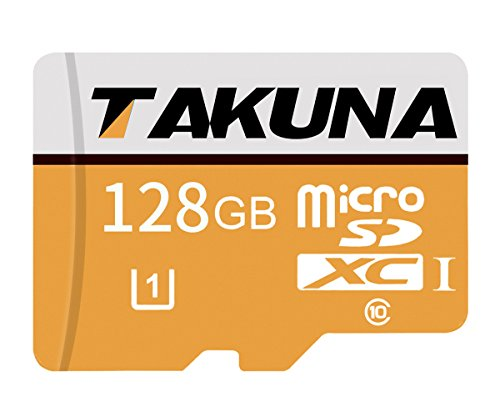 TAKUNA 128GB Micro SD SDXC Card High Speed Memory Card With SD Card Adapter by TAKUNA